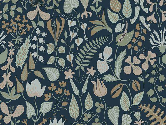 Флизелиновые обои из Швеции коллекция Scandinavian Designers III от Borastapeter   HERBARIUM .Плотный цветочный узор в скандинавском стиле., Scandinavian Designers III, Обои для гостиной, Обои для спальни, Обои с цветами, Флизелиновые обои