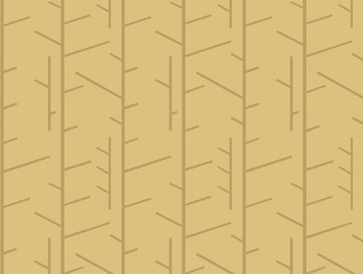 Флизелиновые обои из Швеции коллекция Scandinavian Designers III от Borastapeter под названием TASSEL.  Стилизованный растительный рисунок в графичном исполнении  на фоне приглушенного желтого цвета  . Узор характерен для скандинавского стиля., Scandinavian Designers III, Обои для гостиной, Обои для кабинета, Обои для кухни, Флизелиновые обои