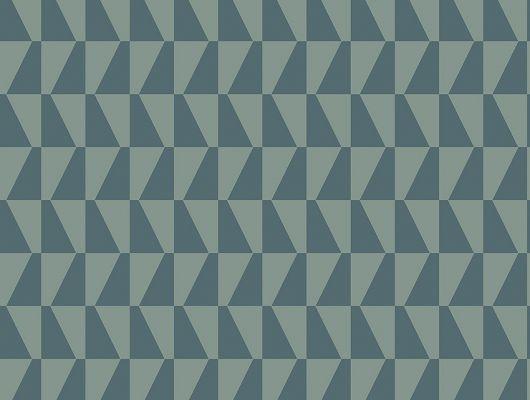 Флизелиновые обои из Швеции коллекция Scandinavian Designers III от Borastapeter под названием TRAPEZ.  Узор из разнонаправленных трапеций  серо-зеленого цвета., Scandinavian Designers III, Обои для гостиной, Обои для кабинета, Флизелиновые обои