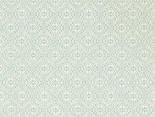 Обои для кабинета с легким узором геометрии на светло зеленом фоне  Pinjara Trellis из коллекции Littlemore от Sanderson выбрать в салоне обоев., Littlemore, Обои для гостиной, Обои для кабинета, Обои для спальни