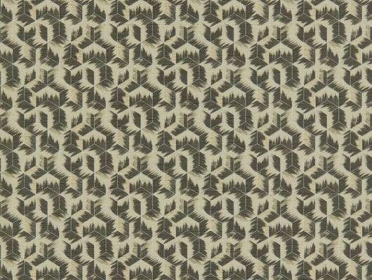 Геометрический рисунок в бежево-графитовых тонах на недорогих обоях 312892 от Zoffany из коллекции Rhombi подойдет для ремонта гостиной Бесплатная доставка , заказать в интернет-магазине, Rhombi, Обои для гостиной, Обои для кабинета