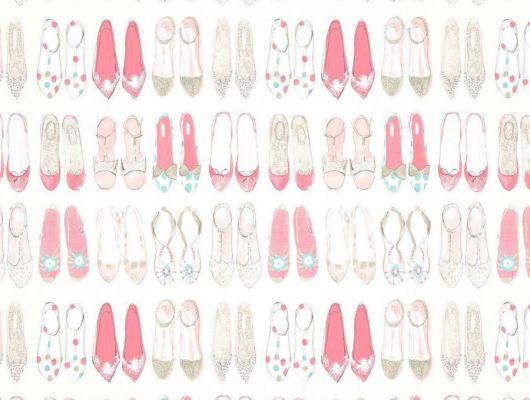 Выбрать обои в комнату World At Your Feet арт. 112646 от Harlequin с нарисованными туфельками для маленьких принцесс на сайте odesign.ru., Book of Little Treasures, Обои для кабинета