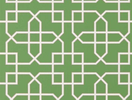 Обои Sanderson коллекция The Glasshouse дизайн Hampton Trellis арт. 216660, The Glasshouse, Обои для гостиной, Обои для спальни