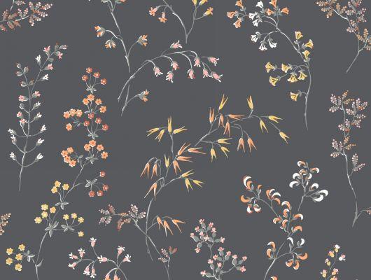 Флизелиновые обои из Швеции коллекция Vårt Arkiv от Borastapeter под названием GRÅÄNG. Темно-серые обои с нежными луговыми цветами в скандинавском стиле. Обои для спальни, обои для кухни, для прихожей. Бесплатная доставка, купить обои, большой ассортимент, Vart Arkiv, Обои для гостиной, Обои для кухни, Обои для спальни, Обои с цветами, Флизелиновые обои
