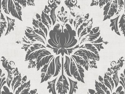 Флизелиновые обои из Швеции коллекция Northern FEELINGS от Collection For Walls под названием Ornament. Классический, крупный орнамент черного цвета на белом фоне. Обои для гостиной, обои для кабинета. Купить обои, большой ассортимент, бесплатная доставка, Northern FEELINGS, Архив, Обои для гостиной, Обои для кабинета, Обои для спальни, Флизелиновые обои