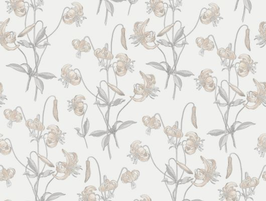 Флизелиновые обои из Швеции коллекция Northern FEELINGS от Collection For Walls под названием Lily. Лилии бежевого цвета на светлом фоне. Обои для кухни, обои для гостиной, обои для спальни. Большой ассортимент, купить обои в салоне Одизайн, Northern FEELINGS, Обои для гостиной, Обои для кухни, Обои для спальни, Флизелиновые обои