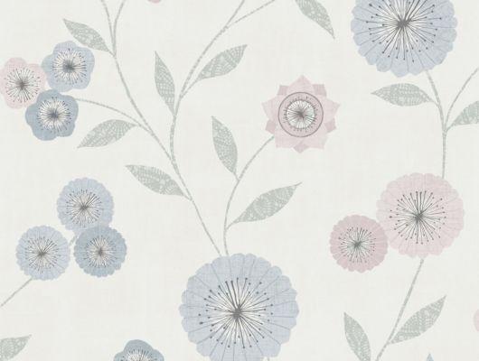 Флизелиновые обои из Швеции коллекция Northern FEELINGS от Collection For Walls под названием Marigold. Декоративный цветочный узор в пастельных оттенках розового, голубого и зеленого цвета на светлом фоне. Обои для кухни, обои для гостиной, обои для спальни. Бесплатная доставка, купить обои, большой ассортимент, Northern FEELINGS, Архив, Обои для гостиной, Обои для кухни, Обои для спальни, Флизелиновые обои