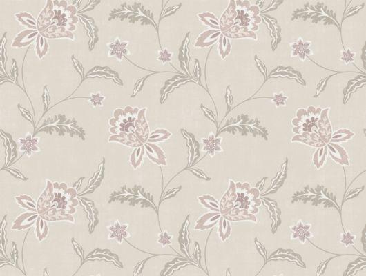 Флизелиновые обои из Швеции коллекция Northern FEELINGS от Collection For Walls под названием Bluebell. Декоративный цветочный узор пудрового розового цвета на бежевом фоне. Обои для спальни, обои для гостиной, обои для кухни. Купить обои в интернет-магазине Одизайн, бесплатная доставка, онлайн оплата, Northern FEELINGS, Архив, Обои для гостиной, Обои для кухни, Обои для спальни, Флизелиновые обои