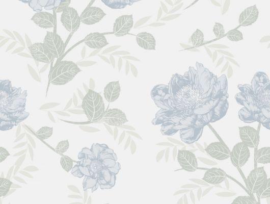 Флизелиновые обои из Швеции коллекция Northern FEELINGS от Collection For Walls под названием Roses. Крупные розовые бутоны голубого цвета на светлом фоне. Обои для спальни, обои для гостиной. Купить обои, большой ассортимент, бесплатная доставка, Northern FEELINGS, Обои для гостиной, Обои для кухни, Обои для спальни, Флизелиновые обои