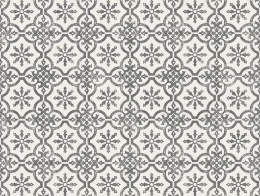 Флизелиновые обои из Швеции коллекция Northern FEELINGS от Collection For Walls. Рисунок Marrakesh Small имитация керамической плитки бело-черного цвета. Обои для кухни, обои для гостиной. Купить обои в интернет-магазине Одизайн, бесплатная доставка, онлайн оплата, Northern FEELINGS, Обои для гостиной, Обои для кухни, Флизелиновые обои