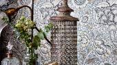 Заказать флизелиновые обои для спальни с цветами в сером цвете  арт. 216826 Wandle из коллекции Compilation Wallpaper от Morris недорого с доставкой.