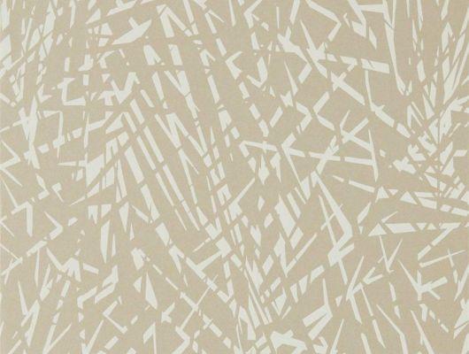 Продажа обоев для комнаты Lorenza арт. 112232 из коллекции Mirador, Harlequin с абстрактным изображением пальмовых листьев на теплом металлизированном фоне в интернет-магазине., Mirador, Обои для гостиной, Обои для кабинета