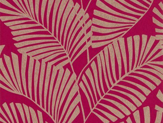 Подобрать стильные обои в прихожую арт. 112140 дизайн Mala из коллекции Salinas от Harlequin, Великобритания с рисунком тропических листьев серебристого цвета на красном фоне  в шоу-руме в Москве, широкий ассортимент, бесплатная доставка, Salinas, Обои для гостиной, Обои для спальни