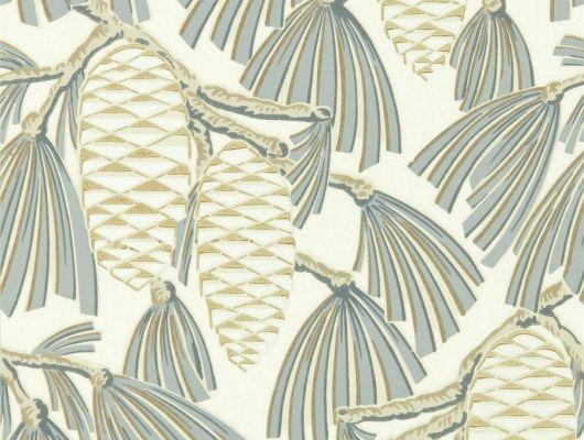 Приобрести обои в коридор арт. 112128  из коллекции Salinas от Harlequin, Великобритания с рисунком веток с еловыми шишками на светло-бежевом фоне  в интернет-магазине с бесплатной доставкой, Salinas, Обои для гостиной, Обои для спальни