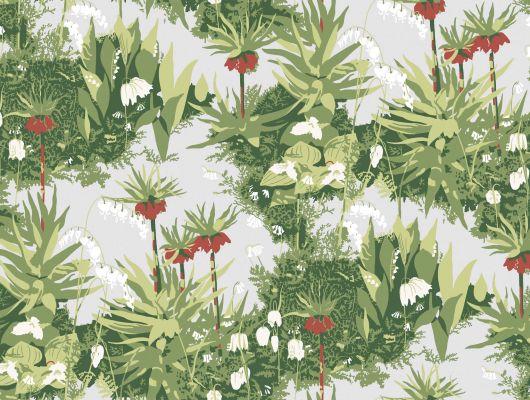 Обои art 2732 Флизелин Boråstapeter Швеция, Wallp. by scand des., Обои для прихожей, Обои с цветами, Флизелиновые обои