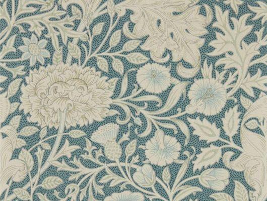 Подобрать бумажные обои для коридора арт. 216682 из коллекции Melsetter от Morris с крупным цветочным принтом в синем цвете в шоу-руме в Москве, Melsetter, Обои для гостиной