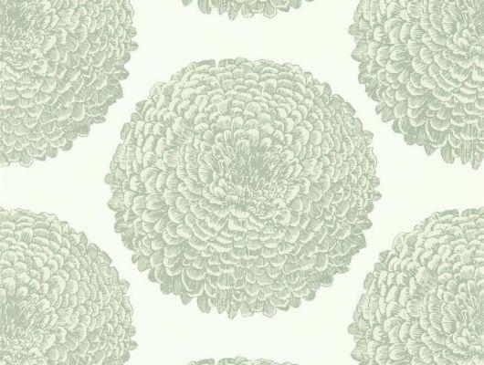 Заказать дизайнерские обои Elixity арт. 112174 коллекция Momentum 6 от Harlequin с георгинами на бежевом фоне в салоне Одизайн, Momentum 6, Обои для гостиной, Обои для кухни, Обои для спальни