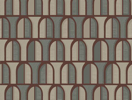Флизелиновые обои из Швеции коллекция THE APARTMENT от Borastapeter, рисунок под названием Venice, который передает архитектурный элемент арки выполненные в бордовом цвете на темно-сером и бежево-сером цвете. Обои для гостиной, обои для коридора, обои для кабинета. Онлайн оплата, купить обои с доставкой на дом, большой ассортимент, салон обоев, The Apartment, Новинки, Обои для гостиной, Обои для кабинета