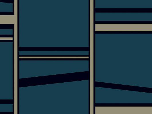 Флизелиновые обои из Швеции коллекция THE APARTMENT от Borastapeter, рисунок под названием Madison, крупный геометрический рисунок в стиле модерн. Темно-синего, черного и золотого цвета. Обои для гостиной, обои для коридора, обои для кабинета. Купить обои в интернет-магазине, большой ассортимент, бесплатная доставка на дом, The Apartment, Обои для гостиной, Обои для кабинета