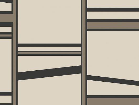 Флизелиновые обои из Швеции коллекция THE APARTMENT от Borastapeter, рисунок под названием Madison, крупный геометрический рисунок в стиле модерн. Белого, черного и бронзового цвета . Обои для гостиной, обои для коридора, обои для кабинета. Купить обои в интернет-магазине, большой ассортимент, бесплатная доставка на дом, The Apartment, Обои для гостиной, Обои для кабинета
