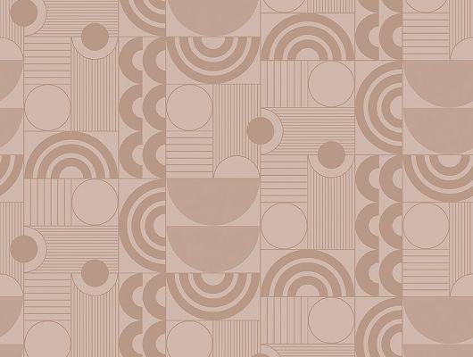 Флизелиновые обои из Швеции коллекция The Apartment от Borastapeter, с рисунком под названием Cosmopolitan геометрический рисунок бежевого-персикового оттенка на металлике бронзового цвета. Обои для гостиной, для коридора, для спальни. Купить обои в салоне Одизайн, бесплатная доставка, большой выбор обоев, The Apartment, Обои для гостиной, Обои для кабинета