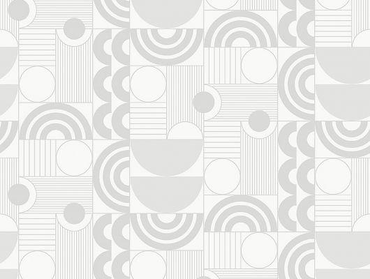 Флизелиновые обои из Швеции коллекция The Apartment от Borastapeter, с рисунком под названием Cosmopolitan геометрический рисунок белого-молочного оттенка на металлике серебряного цвета. Обои для гостиной, для коридора, для спальни. Купить обои в салоне Одизайн, бесплатная доставка, большой выбор обоев, The Apartment