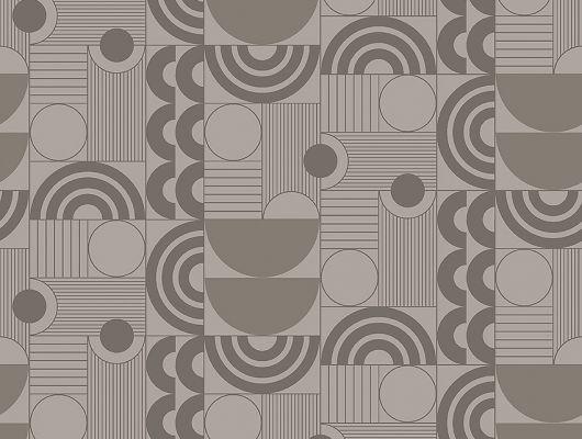 Флизелиновые обои из Швеции коллекция The Apartment от Borastapeter, с рисунком под названием Cosmopolitan геометрический рисунок бежевого оттенка на металлике бронзового цвета. Обои для гостиной, для коридора, для спальни, обои для кухни. Купить обои в салоне Одизайн, бесплатная доставка, большой выбор обоев, The Apartment, Обои для гостиной, Обои для кабинета