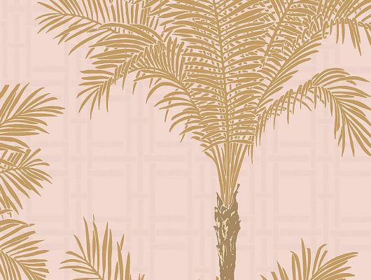 Флизелиновые обои из Швеции коллекция The Apartment от Borastapeter, с рисунком под названием Copacabana крупный растительный рисунок золотого цвета на розовом фоне. Обои для гостиной, для спальни. Купить обои в интернет-магазине, онлайн оплата, бесплатная доставка, The Apartment, Обои для гостиной, Обои для кабинета, Обои для спальни, Хиты продаж