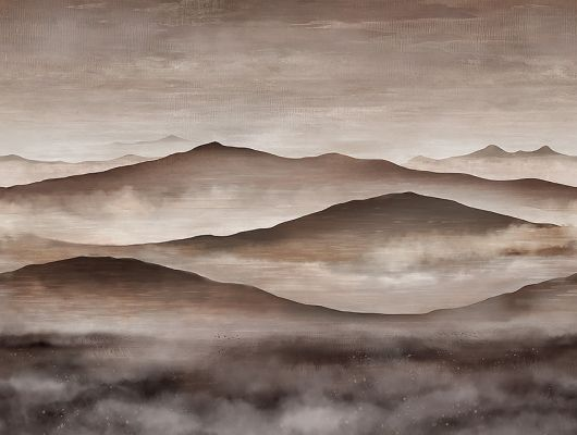 Фотопанно Twilight Landscape арт. 3140 из коллекции Eastern Simplicity от Borastapeter с изображением горного пейзажа с эффектом сепии купить в салонах Одизайн., Eastern Simplicity, Обои для гостиной, Обои для кабинета, Обои для спальни, Фотообои