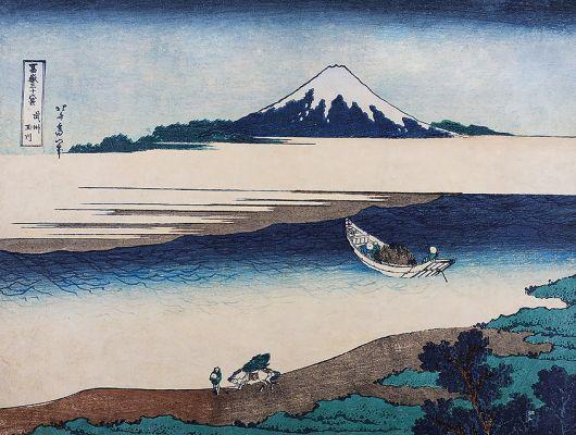 Фотопанно Hokusai арт. 3142 из коллекции Eastern Simplicity от Borastapeter с изображением картины знаменитого японского художника Кацусики Хокусая заказать в интернет-магазине с бесплатной доставкой., Eastern Simplicity, Обои для гостиной, Обои для спальни, Фотообои