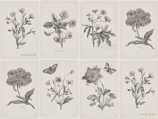 Обои art 3450 Флизелин Boråstapeter Швеция, Garden party, Архив, Обои для кухни, Обои для прихожей, Обои с рисунком, Распродажа, Флизелиновые обои