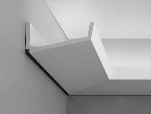 Карниз для скрытого освещения C352 - Flat, Orac decor, Карнизы, Карнизы для скрытого освещения, Лепнина и молдинги, Назначение