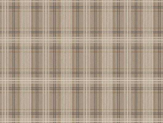 Заказать обои Tailor´s Tweed, арт. 3579 с рисунком элегантной шотландки бежевого и черного цвета на темно-коричневом фоне в интернет-магазине с бесплатной доставкой., Cottage Garden, Моющиеся обои, Новинки, Обои в клетку, Обои для гостиной, Обои для кабинета, Флизелиновые обои