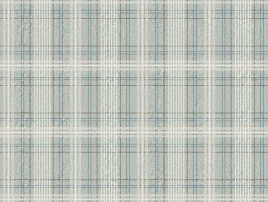 Заказать обои Tailor´s Tweed, арт. 3580 с рисунком элегантной шотландки  кремовых синих и коричневых оттенков на бирюзовом фоне в интернет-магазине с бесплатной доставкой., Cottage Garden, Обои в клетку, Обои для гостиной, Обои для кабинета, Флизелиновые обои
