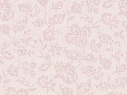 """Обои в спальню арт. 38640 из коллекции  """"Borosan EasyUp® 2020"""" от Borastapeter с """"текстильным"""" цветочным узором в нежных розовых тонах купить в салонах ОДизайн., Borosan EasyUp 2020, Обои для кухни, Обои для спальни"""