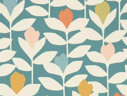 Найти Обои для детской Padukka с крупными листьями на синем фоне из коллекции Esala от Scion с бесплатной доставкой, Esala, Обои для гостиной, Обои для кухни, Обои для спальни