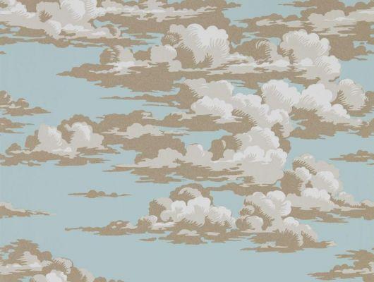 Приобрести обои на основе флизелина с рисунком вечернего неба арт. 216601 дизайн Silvi Clouds для гостинной из коллекции Elysian от Sanderson в шоу-руме в Москве, Elysian, Обои для гостиной, Обои для спальни