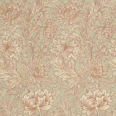 Подобрать обои для спальни Chrysanthemum Toile арт. 216861 из коллекции Compilation Wallpaper от Morris , Великобритания с хризантемами на зеленом фоне., Compilation Wallpaper, Обои для гостиной, Обои для спальни