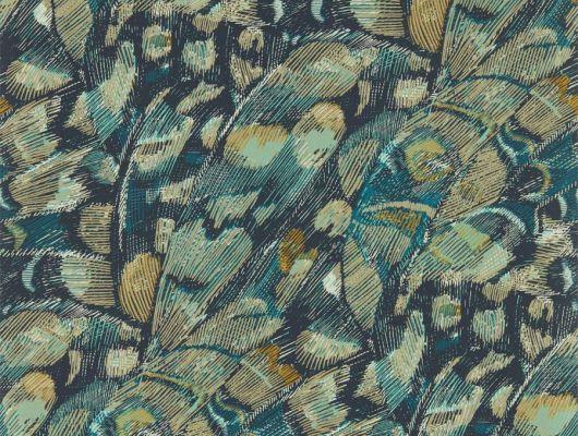 Заказать дизайнерские обои с рисунком бабочек на темно синем фоне дизайн Lamina арт. 112167 от производителя Harlequin с бесплатной доставкой до дома, Momentum 6, Обои для гостиной