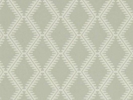 Купить обои для кабинета Witney из коллекции Littlemore от Sanderson изысканного оливкового цвета с ненавязчивым геометрически узором с Москве., Littlemore, Обои для гостиной, Обои для кухни, Обои для спальни