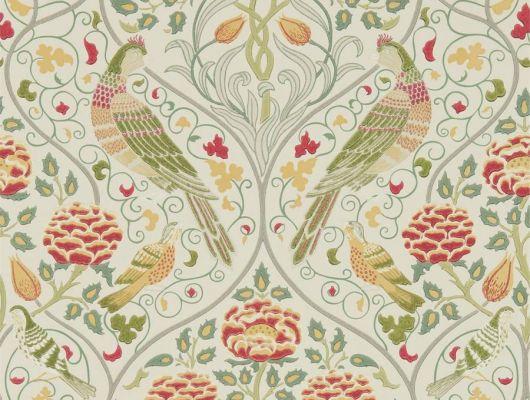 Бумажные обои арт. 216687 из коллекции Melsetter от Morris, Великобритания с имитацией растительной ограды в элегантном  льняном цвете подойдут для ремонта в квартире., Melsetter, Бумажные обои, Обои для гостиной, Обои для кабинета, Обои для кухни