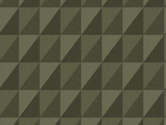 Зеленые обои с современным геометрическим рисунком станет стильным фоном для прихожей, Modern Spaces, Обои для квартиры, Обои для прихожей, Хиты продаж