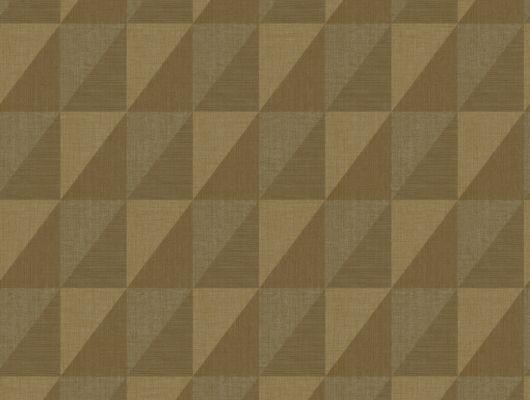 Шведские обои с лаконичным геометрическим принтом в естественных коричневых тонах для квартиры оформленной в современном стиле, Modern Spaces, Обои для квартиры