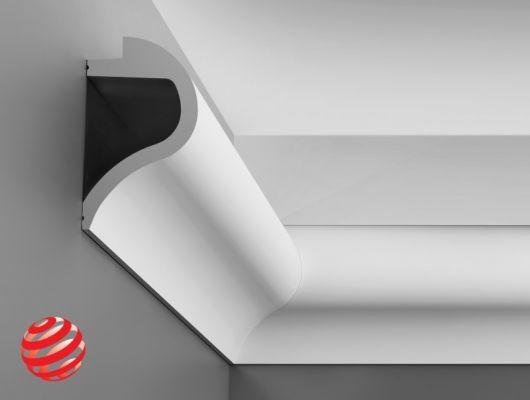 Карниз C364 - Wave  Orac Decor , Orac decor, Карнизы, Карнизы для скрытого освещения, Лепнина и молдинги, Назначение
