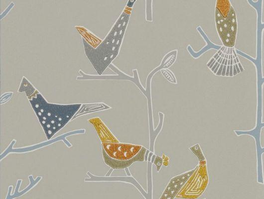 Флизелиновые обои для коридора с птицами из коллекции Japandi  от Scion выбрать  в большом ассортименте в салоне odesign, Japandi, Обои для гостиной