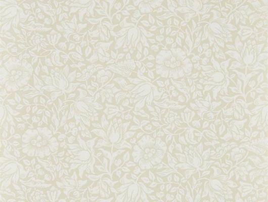 Бумажные обои арт. 216675 цвета слоновой кости из коллекции Melsetter от Morris с мелкой цветочной россыпью для ремонта гостиной., Melsetter, Бумажные обои, Обои для гостиной, Обои для спальни