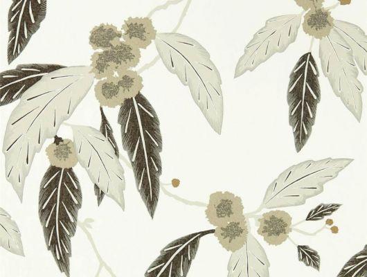 Выбрать обои в коридор арт. 112134 из коллекции Salinas от Harlequin, Великобритания с рисунком листьев и цветов на белом фоне в интернет-магазине  в Москве, Salinas, Обои для гостиной, Обои для спальни