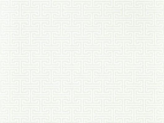 Заказать обои в спальню арт. 312933 дизайн Ormonde Key из коллекции Folio от Zoffany, Великобритания с геометрическим рисунком белого цвета на бежевом фоне на сайте Odesign.ru, онлайн оплата, Folio, Обои для гостиной, Обои для спальни