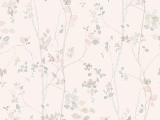 Обои для комнат с выразительным рисунком в виде пятен цветов, теплого розового цвета, Eco Nature, Архив, Обои для квартиры, Обои для комнаты, Распродажа, Хиты продаж