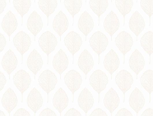 Обои из флизелина с белыми листиками на белом фоне для создания уютной атмосферы, Eco Nature, Архив, Обои для квартиры, Распродажа, Флизелиновые обои